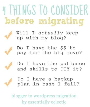 Moving your blog from Blogger to WordPress is a scary leap. These tips will help you decide when you should migrate from Blogger to WordPress | Blogging Tips | WAHM | Mom Blogger | Parenting Blogger | Mom Makes Joy