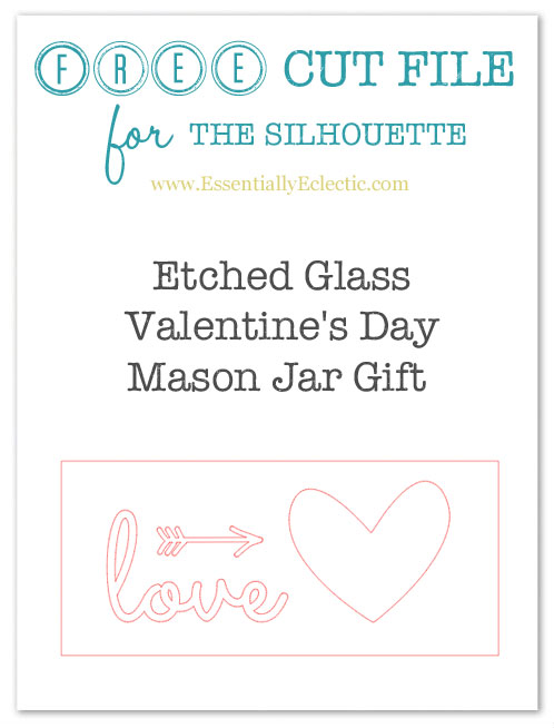 Etched Glass Valentine's Day Mason Jars