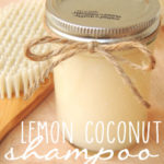 DIY Organic Lemon Coconut Shampoo