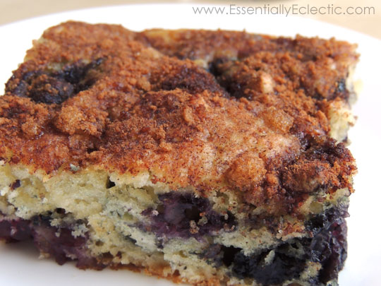 Blueberry Almond Coffee Cake & Kizmos Flora Giveaway | www.EssentiallyEclectic.com