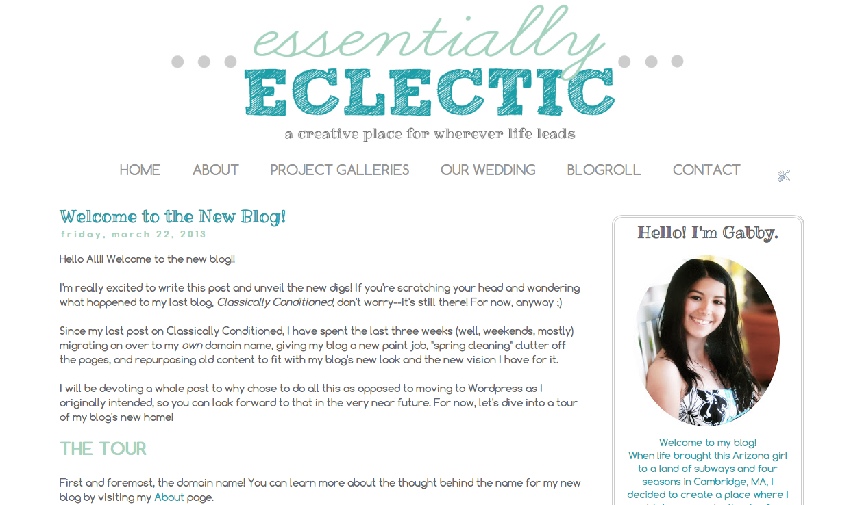The Story of Essentially Eclectic: Blog Changes Over The Years | www.EssentiallyEclectic.com