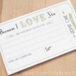 "Printable ""Because I Love You"" Coupons"