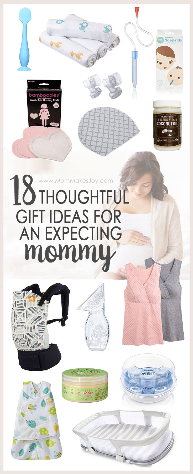 Looking for the perfect, practical gift for the expecting mommy in your life? These gift ideas for pregnant moms are sure to provide inspiration! | gift guide | new baby | new mom | expecting mom | motherhood | baby shower gift | baby gift
