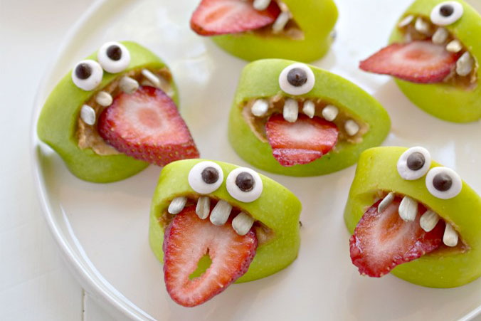 Silly apple bite monsters