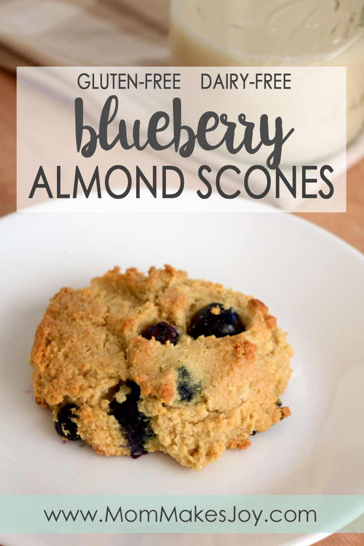 These delicious blueberry almond scones are Paleo friendly! Baked with almond flour and almond milk, these treats are gluten-free and dairy-free!