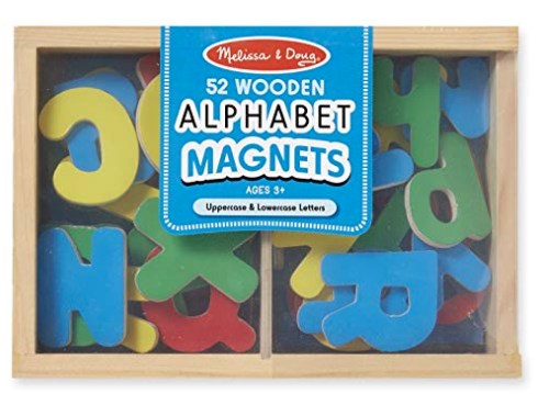 52 Wooden Alphabet Magnets
