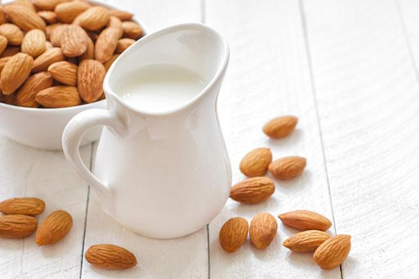 Almond milk used during a dairy free breastfeeding diet