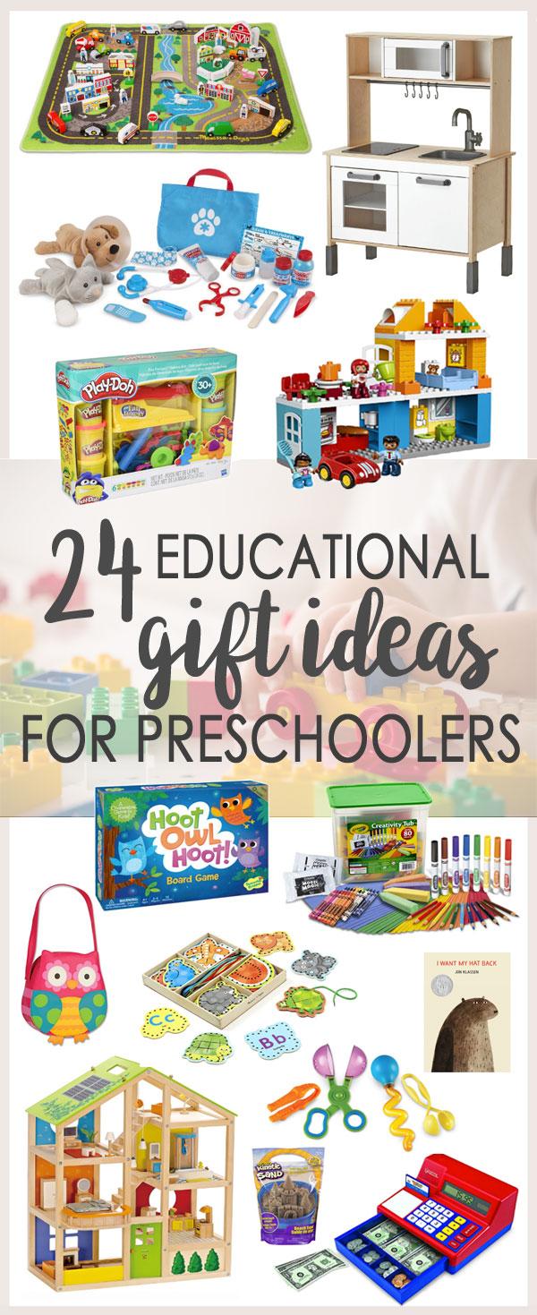 24 Educatinonal Gift Ideas for Preschoolers