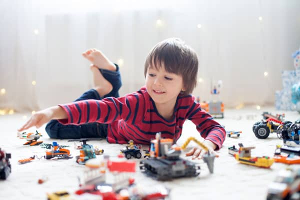 Let kids keep their toy messes in a designated area. This helps keep the house clean with small kids.