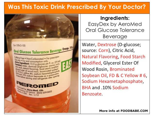 "Was this toxic drink prescribed to you by your doctor? Gestational Diabetes Screening Drink and associated ""risks"""