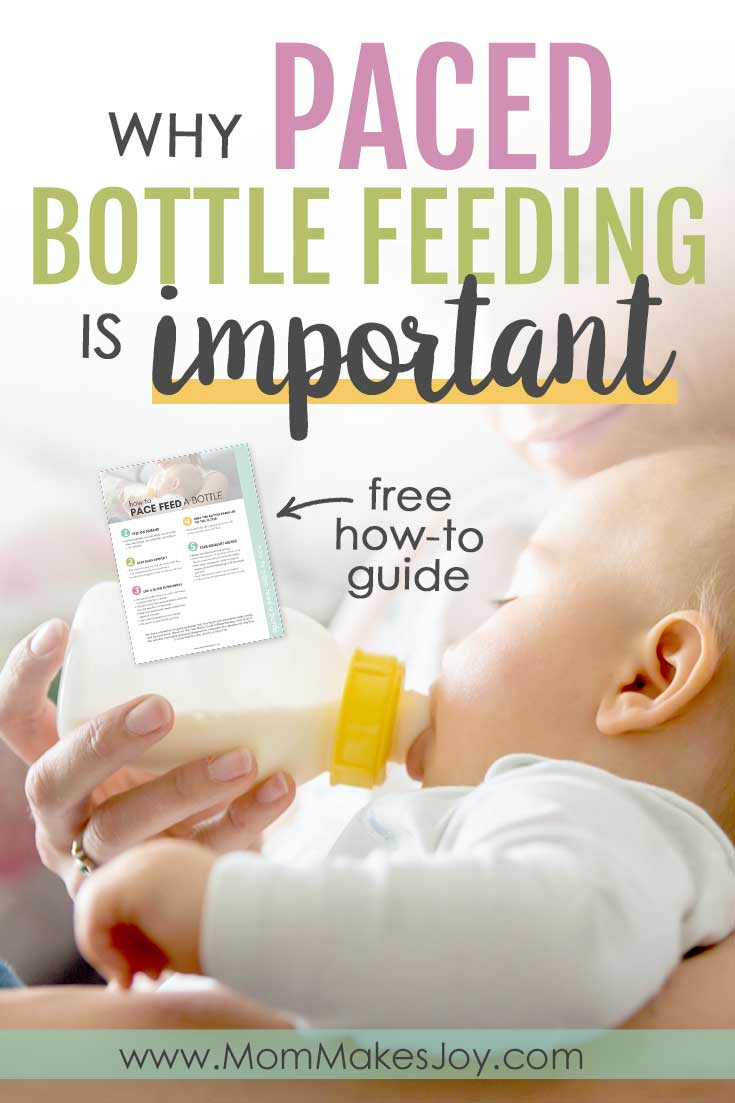 Paced bottle feeding is important! This style of feeding benefits breast- and formula-fed babies alike. Here's how to do it & why you should.