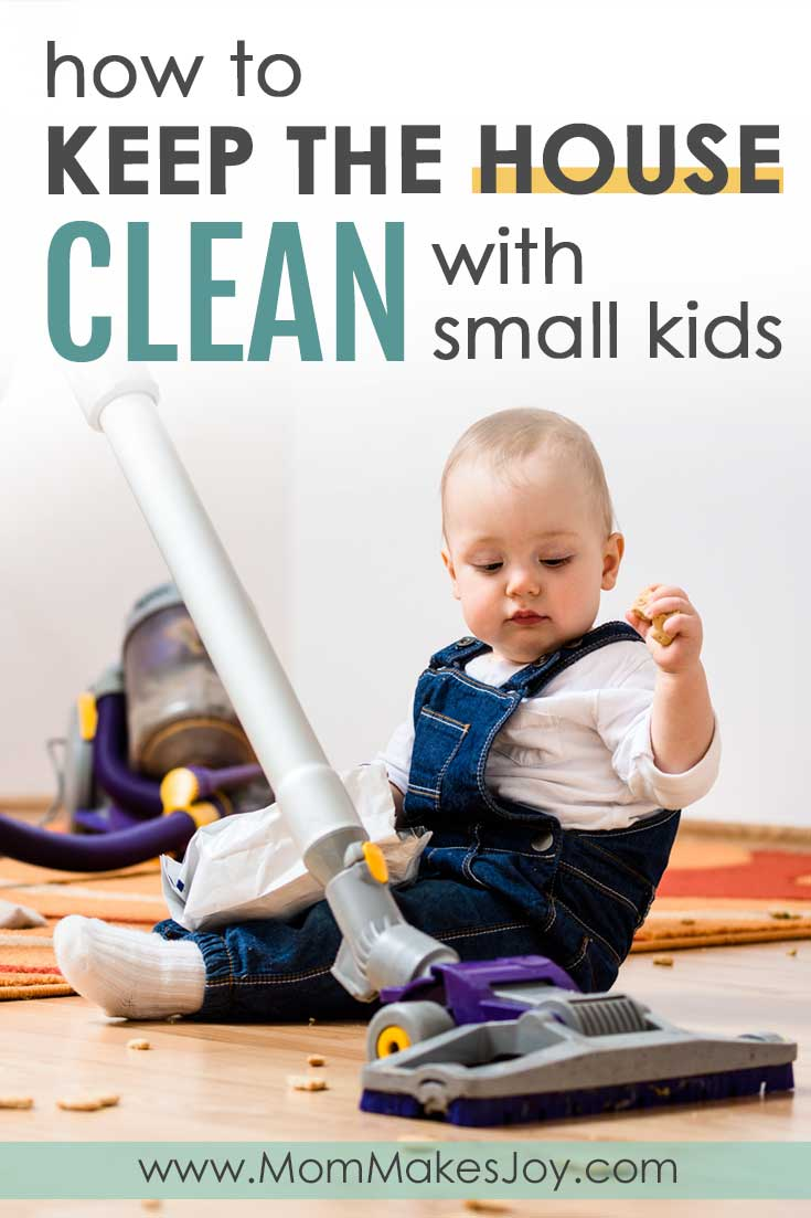 Do you feel like you can't keep your home clean because little ones make it impossible? There is a way! But it takes some strategy. Here are the strategies I use to keep my house clean in spite of my kiddos.