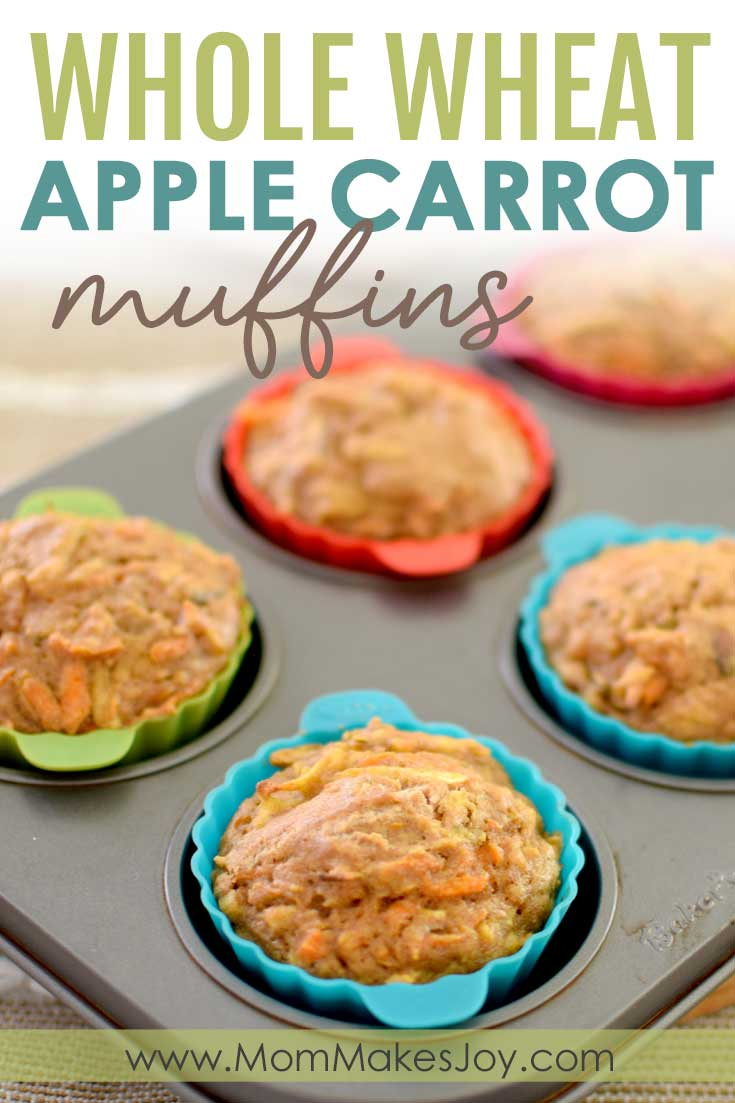 Whole wheat apple carrot muffins